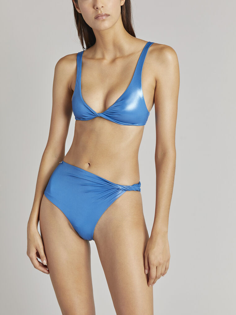 THE ATTICO Ocean blue metallic bikini 2