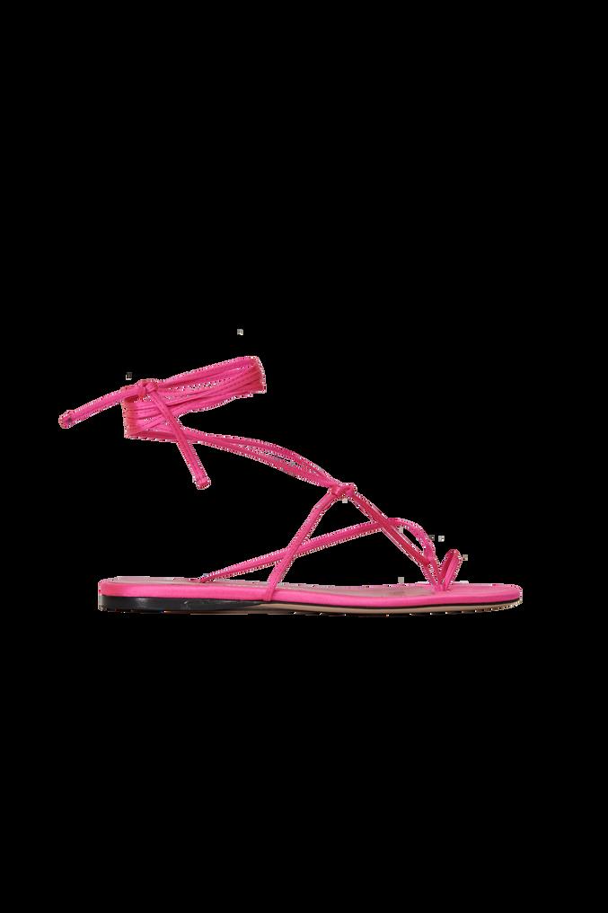 """The Attico Pink satin """"Kika"""" flat thong 4"""
