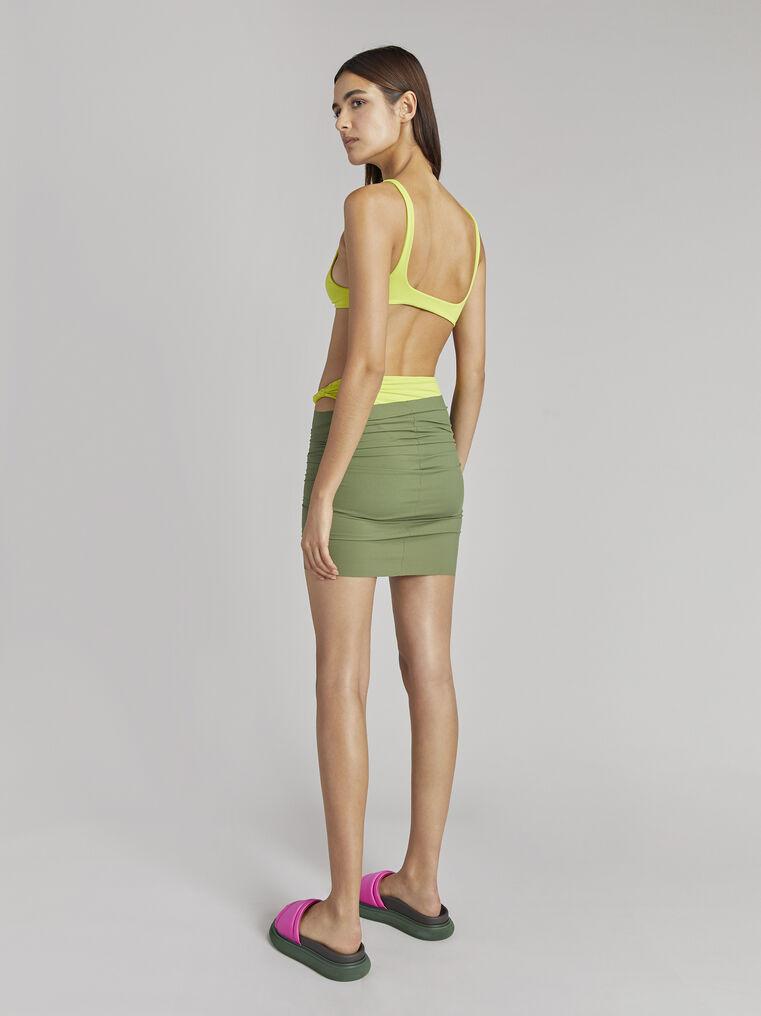 THE ATTICO Matte military green mini skirt 3