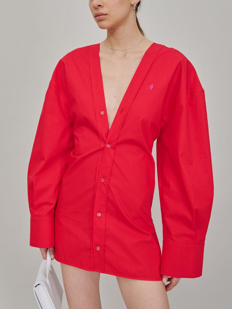"""The Attico """"Lala"""" red chemisier mini dress 2"""