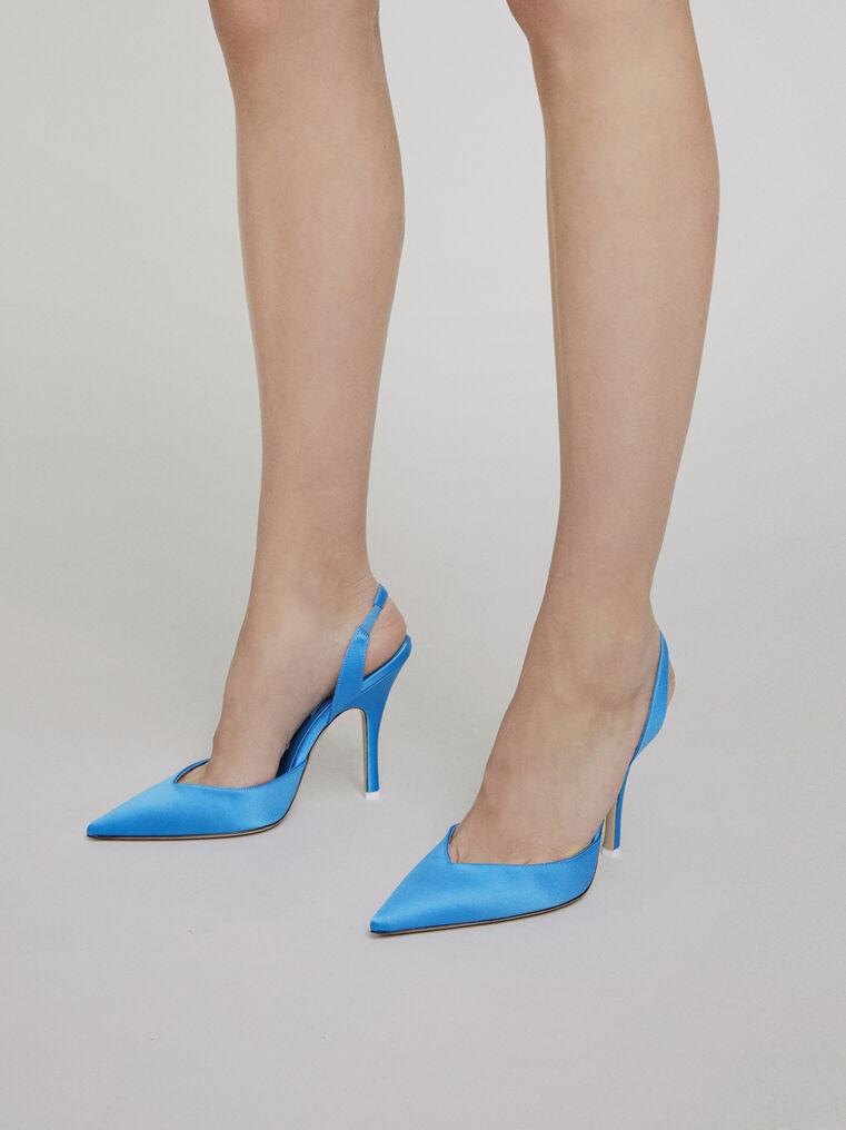 """The Attico """"Lola"""" turquoise slingback pumps 1"""
