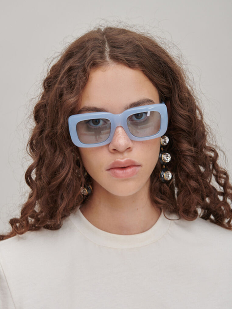 "The Attico ""Marfa"" light blue sunglasses 1"
