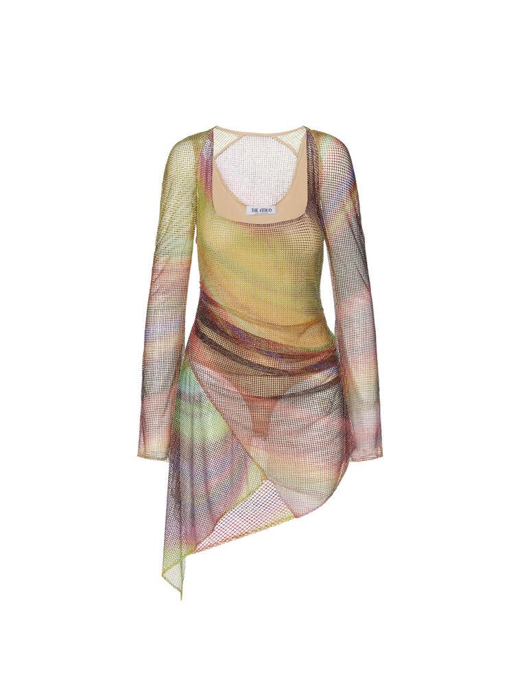 THE ATTICO ''Anemone'' multicolor mini dress 6