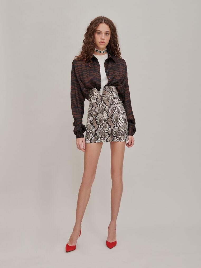 "The Attico ""Virgi"" python-printed mini skirt 1"