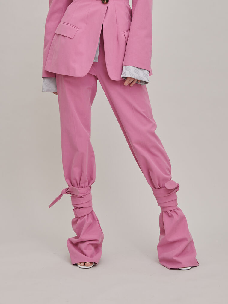 """The Attico """"Donna"""" orchid pink pants 3"""