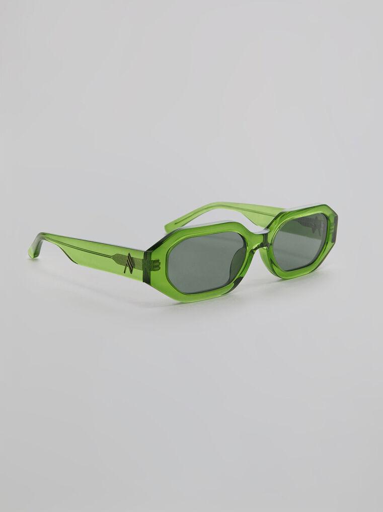 """THE ATTICO """"Irene"""" emerald sunglasses 1"""
