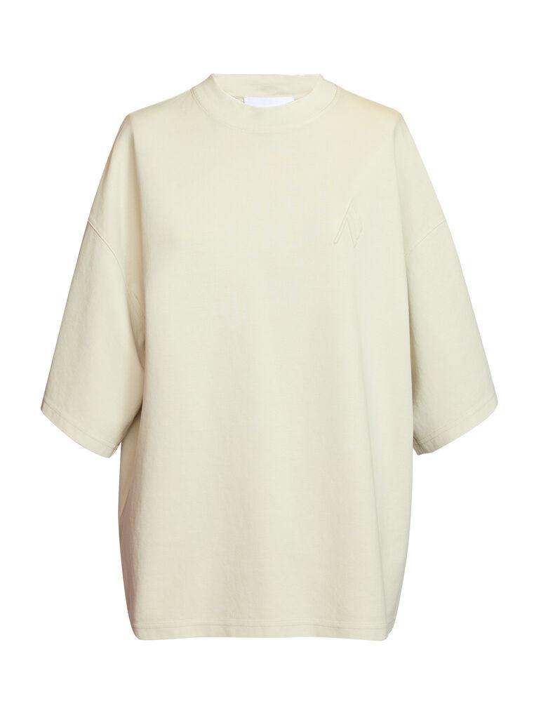 """THE ATTICO """"Cara"""" beige t-shirt 4"""