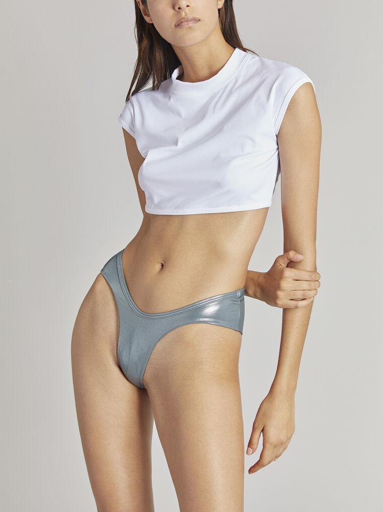 THE ATTICO Titanium metallic bikini bottom 2