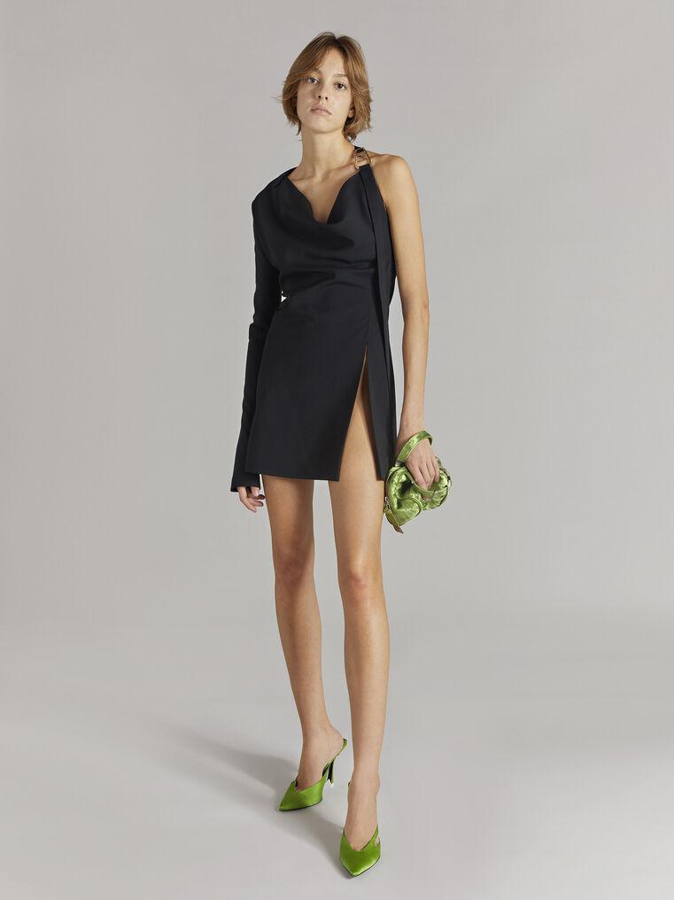"""THE ATTICO """"Linda"""" black mini dress 1"""