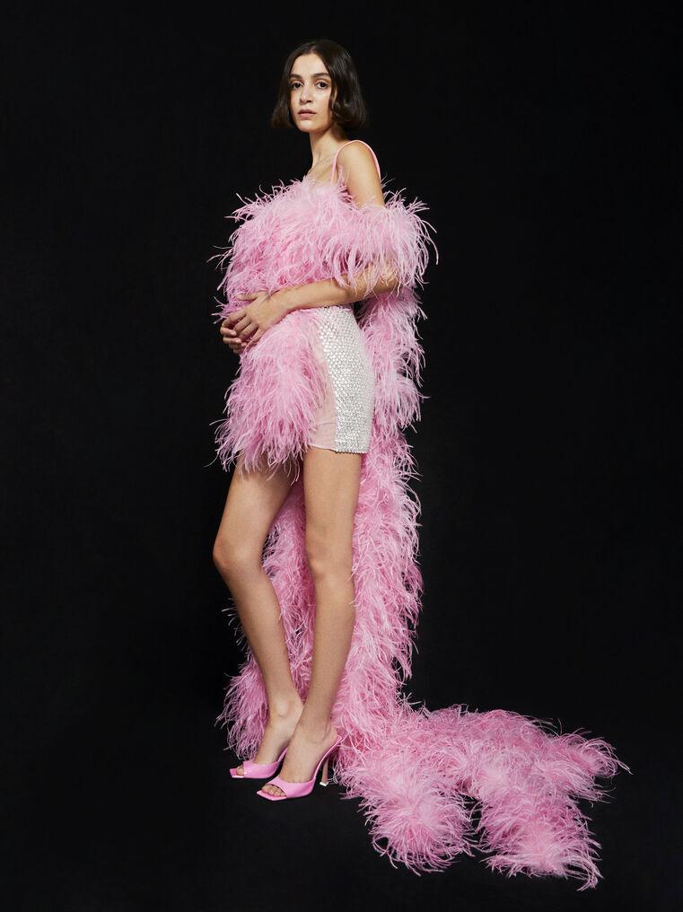 THE ATTICO ''Betul'' pink mini dress 3