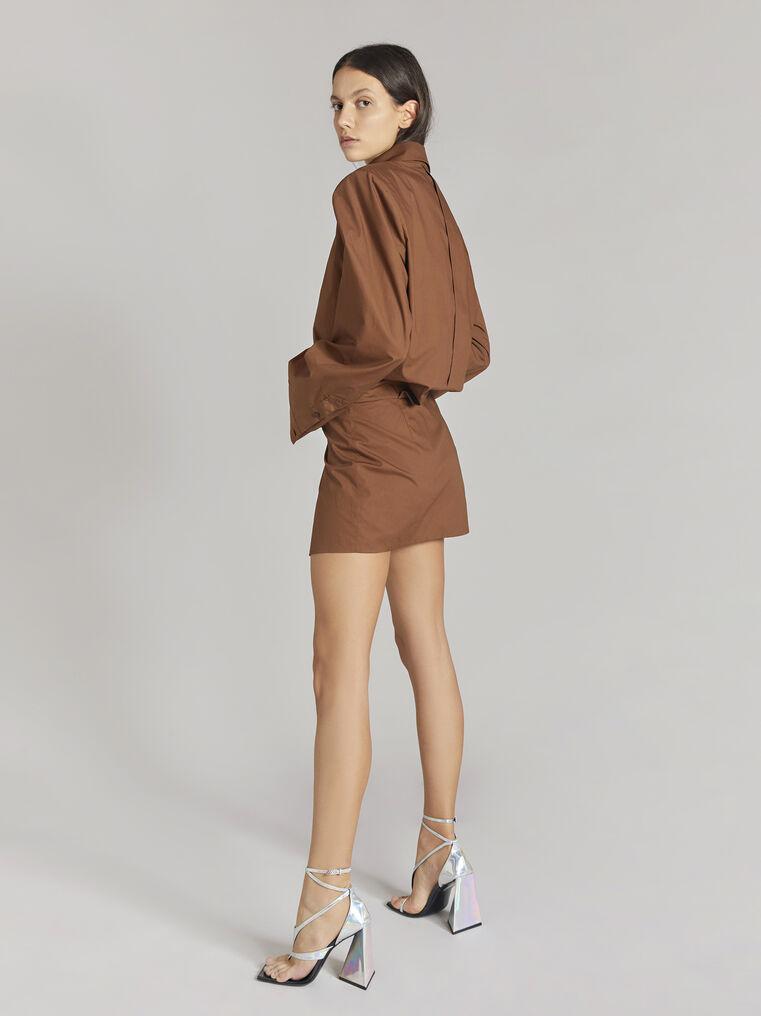 "THE ATTICO ""Margot"" cigar chemisier mini dress 3"