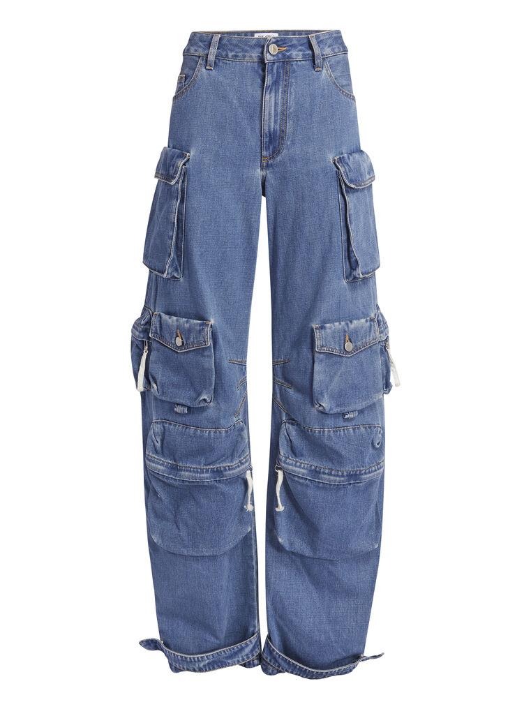 "THE ATTICO ""Fern"" blue denim pants 4"