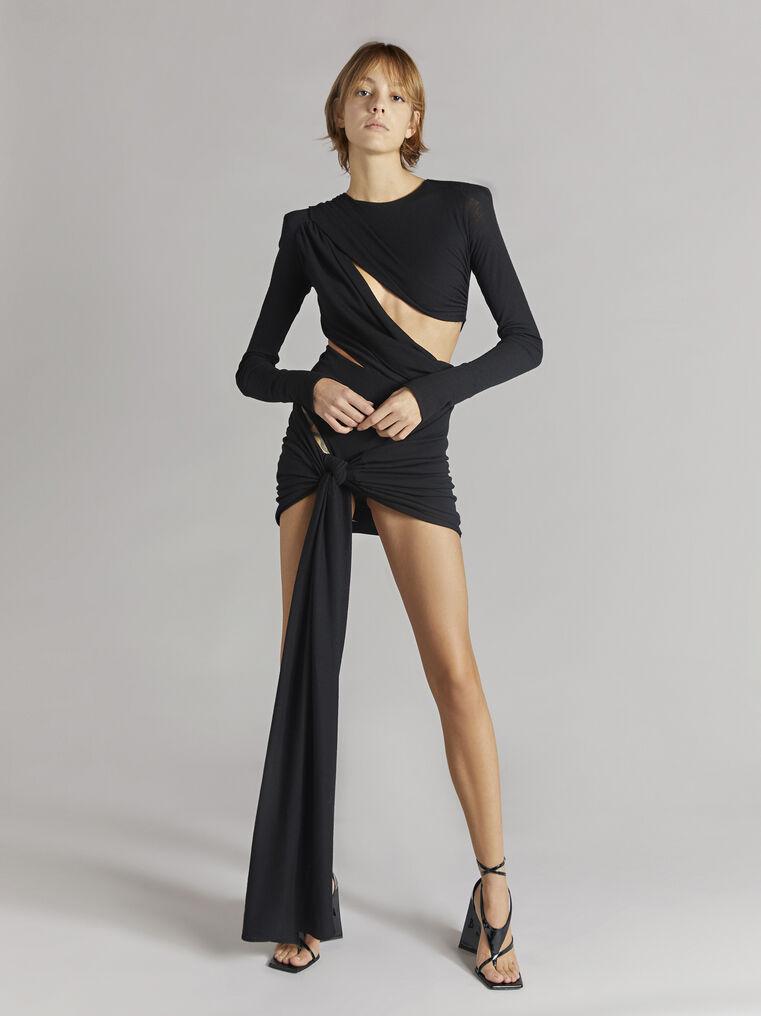 """THE ATTICO """"Brigit"""" black mini dress 1"""