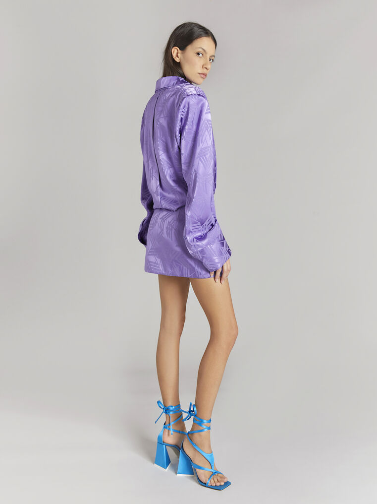 """THE ATTICO """"Margot"""" violet chemisier mini dress 3"""