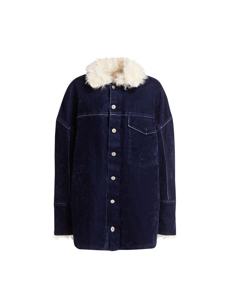 THE ATTICO ''Janet'' midnight blue coat 4