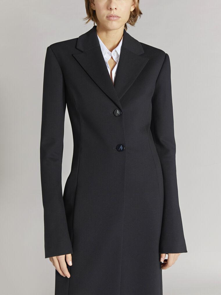 """THE ATTICO """"Milla"""" black fitted coat 2"""