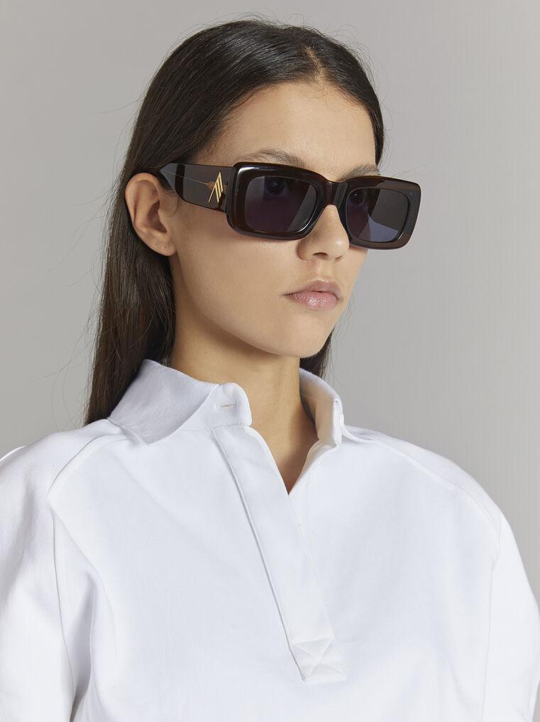 """THE ATTICO """"Marfa"""" brown sunglasses 2"""