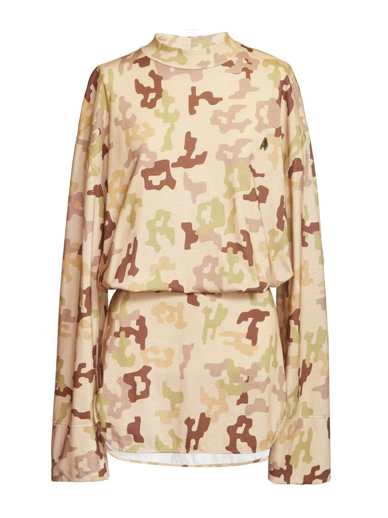 "THE ATTICO ""Palmer"" camouflage mini dress 4"