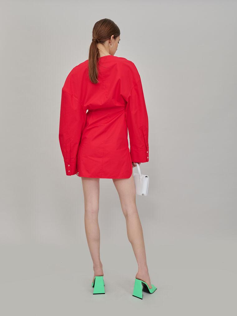 """The Attico """"Lala"""" red chemisier mini dress 3"""
