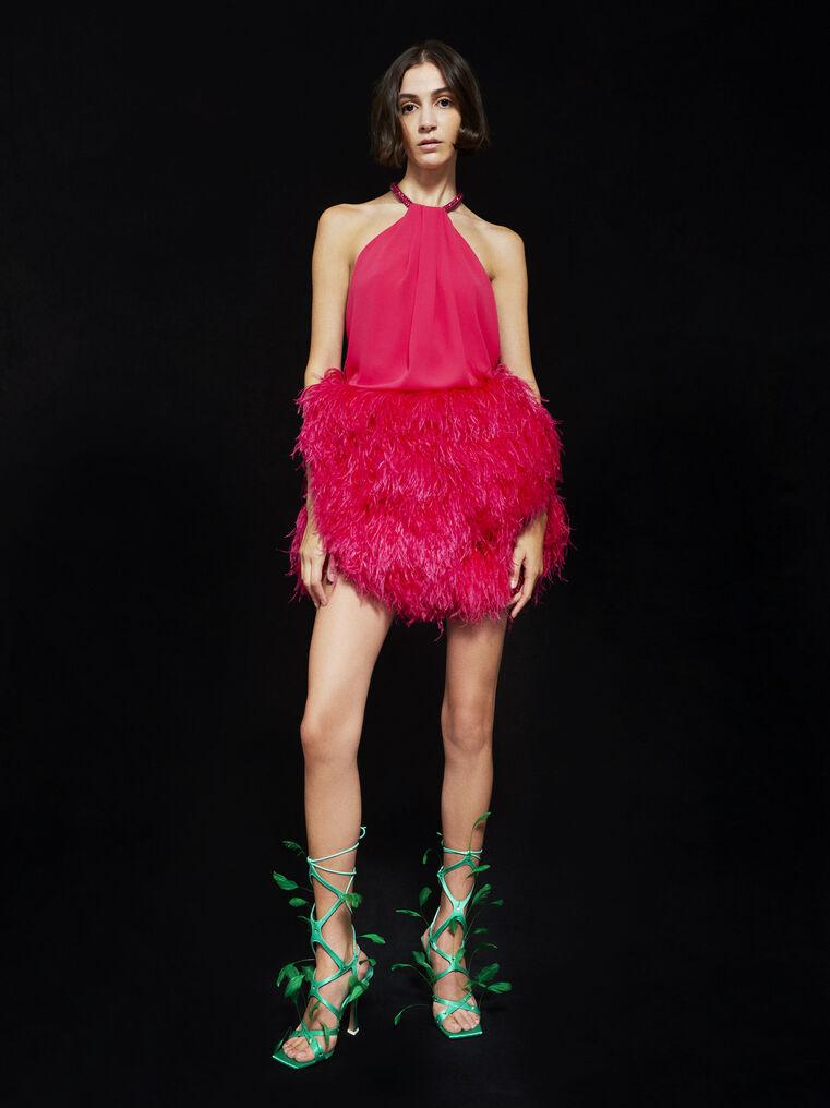 THE ATTICO ''Rose'' strawberry mini dress 1
