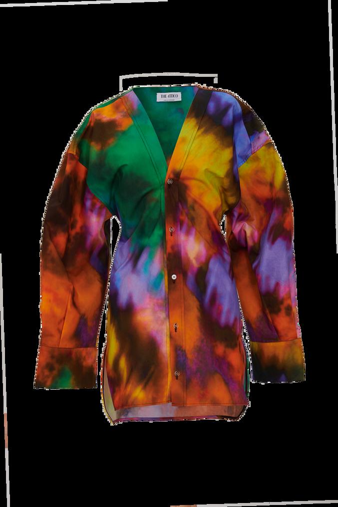 """The Attico """"Lala"""" multicolor chemisier mini dress 4"""