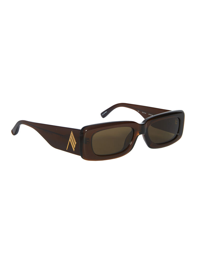 """THE ATTICO """"Mini Marfa"""" rum sunglasses 3"""