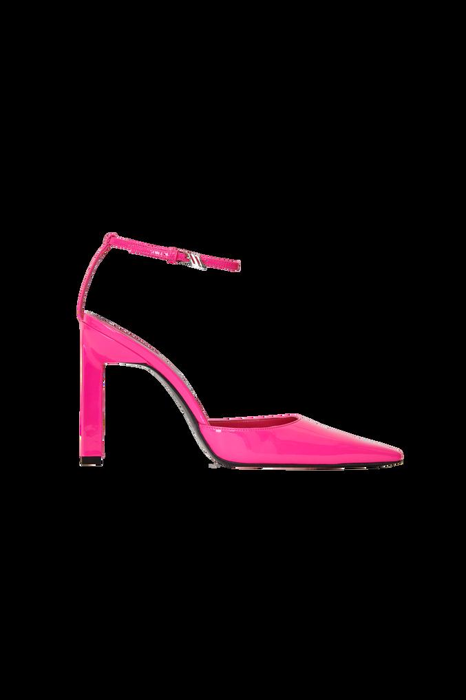 "The Attico Neon pink patent ""Amber"" slingback 4"