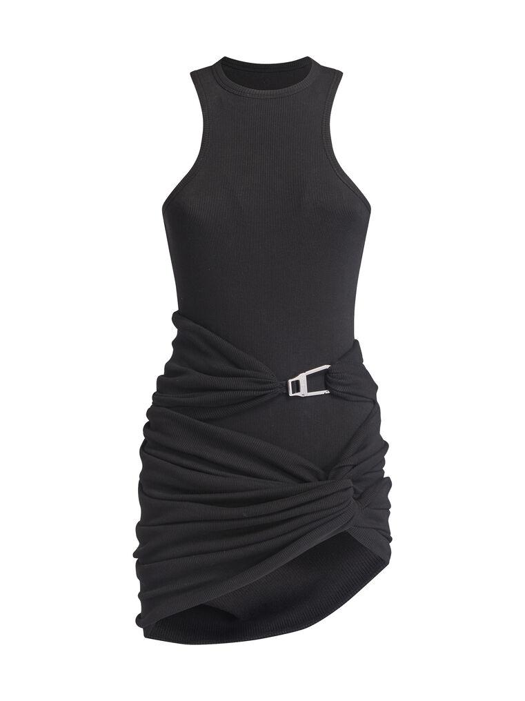 """THE ATTICO """"Cindy"""" black mini dress 4"""