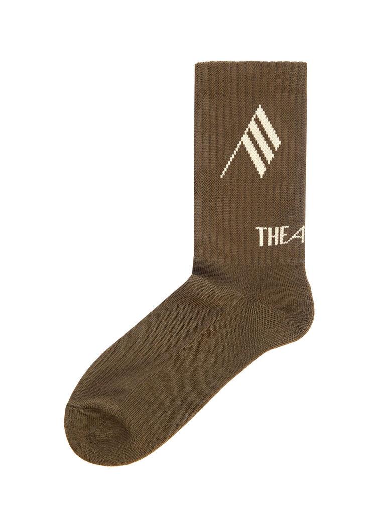 THE ATTICO Army bicolor sponge short socks 3