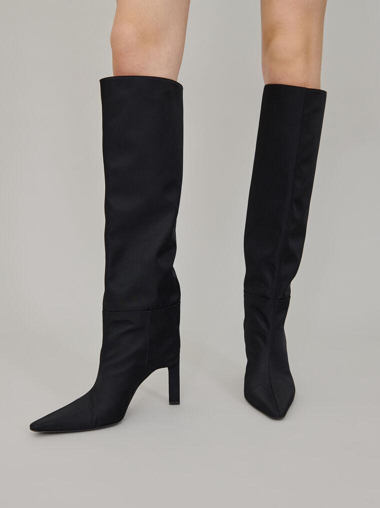 """The Attico """"Vitto 85"""" black nylon  tube boot 1"""