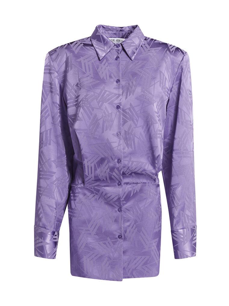 """THE ATTICO """"Margot"""" violet chemisier mini dress 4"""