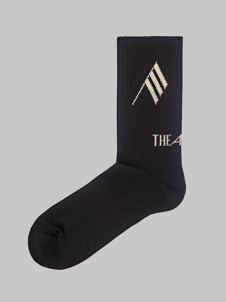THE ATTICO Black bicolor sponge short socks 1