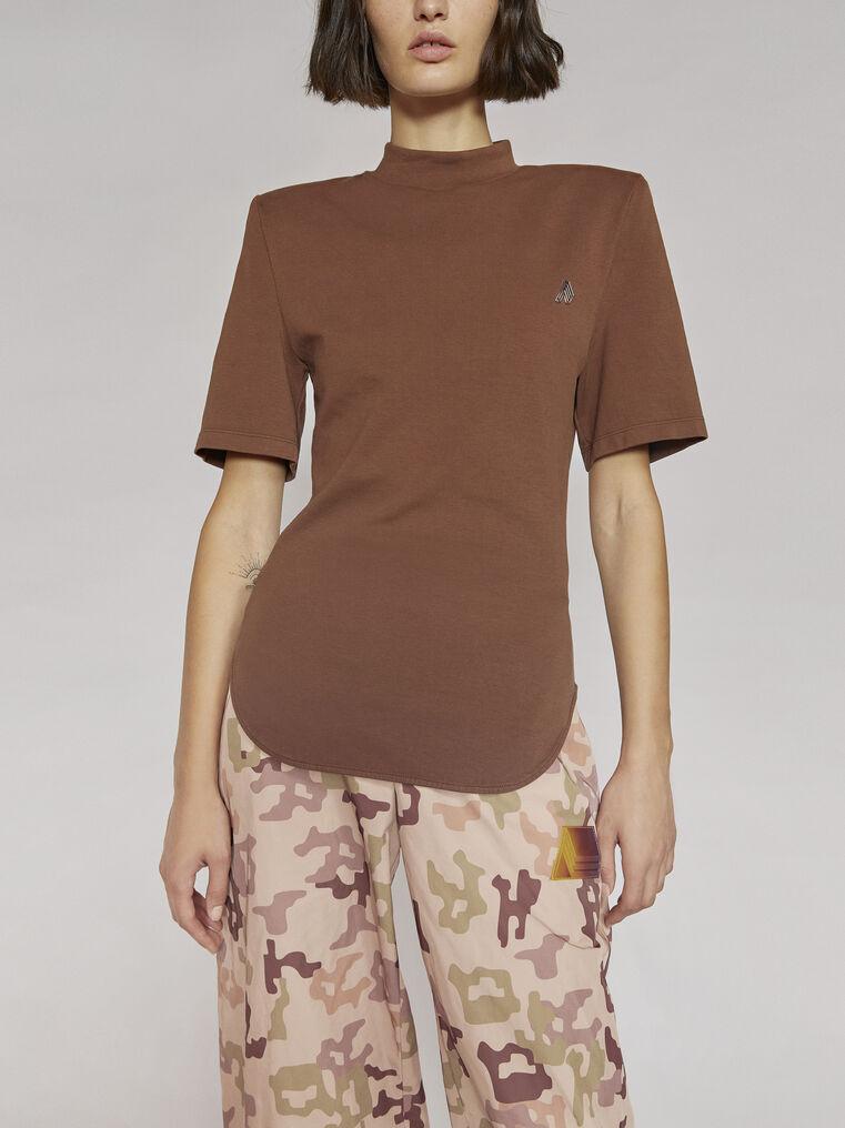 "THE ATTICO ""Tessa"" rum t-shirt 2"