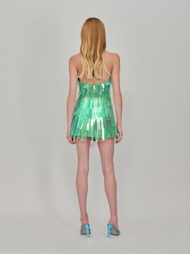 The Attico Embroidered slip dress 3