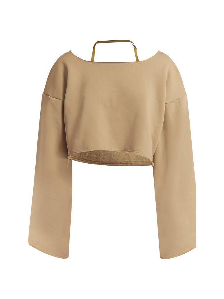 THE ATTICO Camel sweatshirt 4