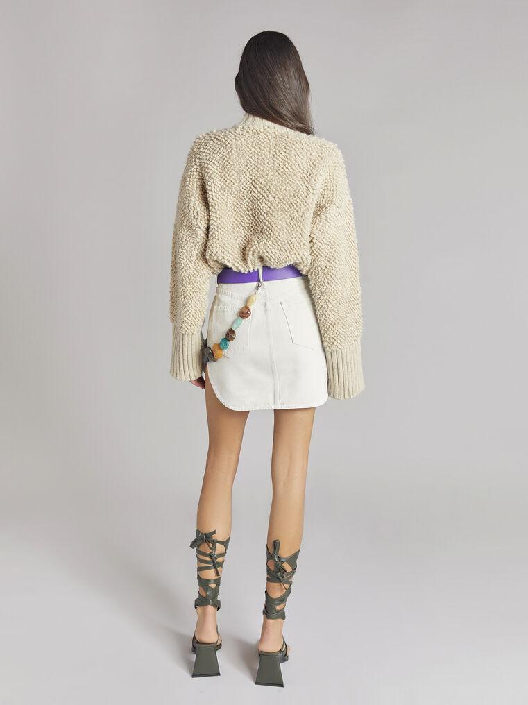 THE ATTICO Cream mini skirt 3