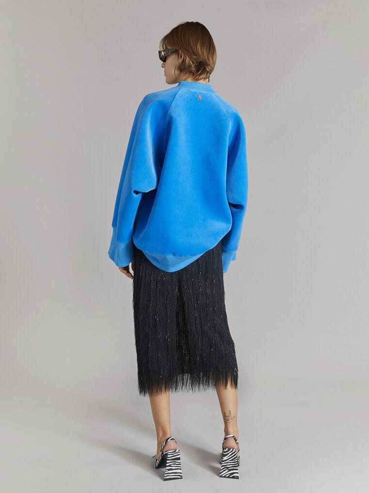 "THE ATTICO ""Vincen"" turquoise oversize sweatshirt 3"