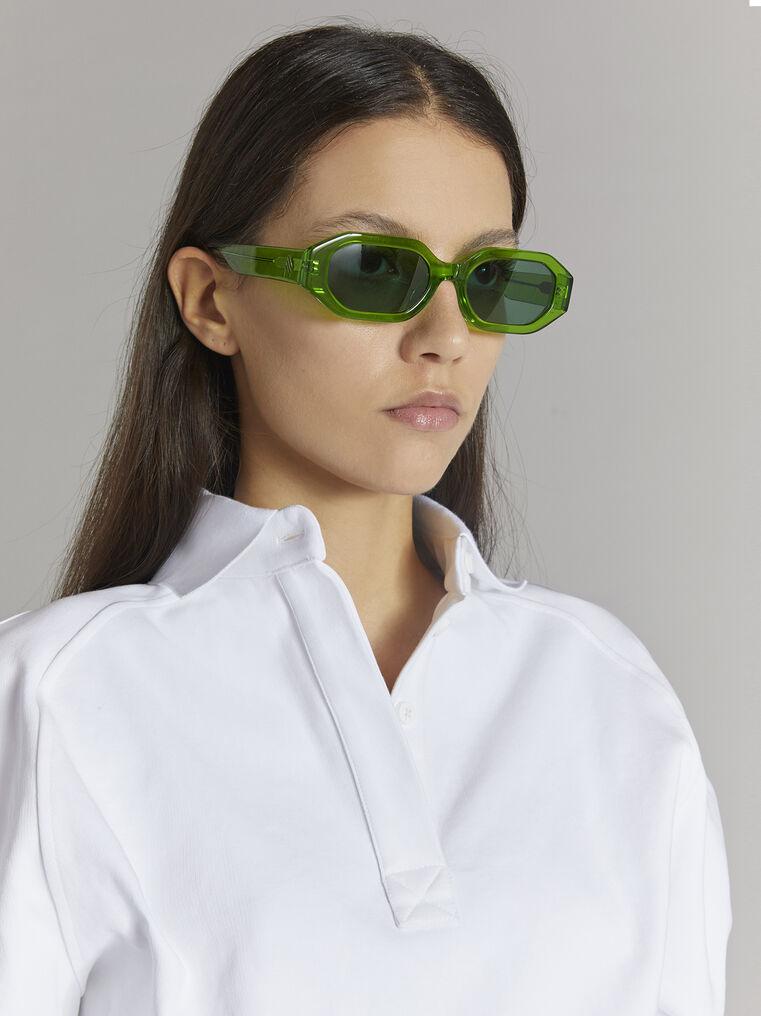 """THE ATTICO """"Irene"""" emerald sunglasses 2"""