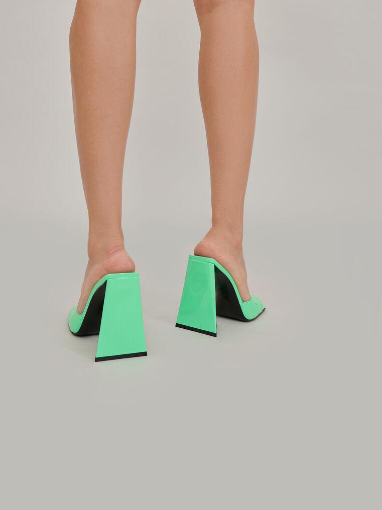 """The Attico """"Devon"""" neon green mule 3"""