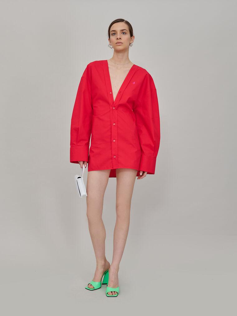 """The Attico V neck """"Lala"""" chemisier mini dress 1"""