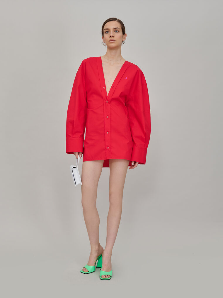 """The Attico """"Lala"""" red chemisier mini dress 1"""