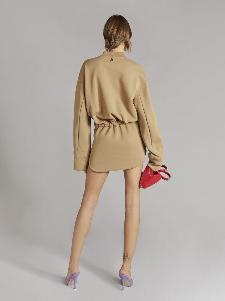 """THE ATTICO """"Palmer"""" camel mini dress 3"""
