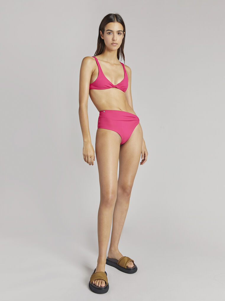 THE ATTICO Fuchsia bikini top 1