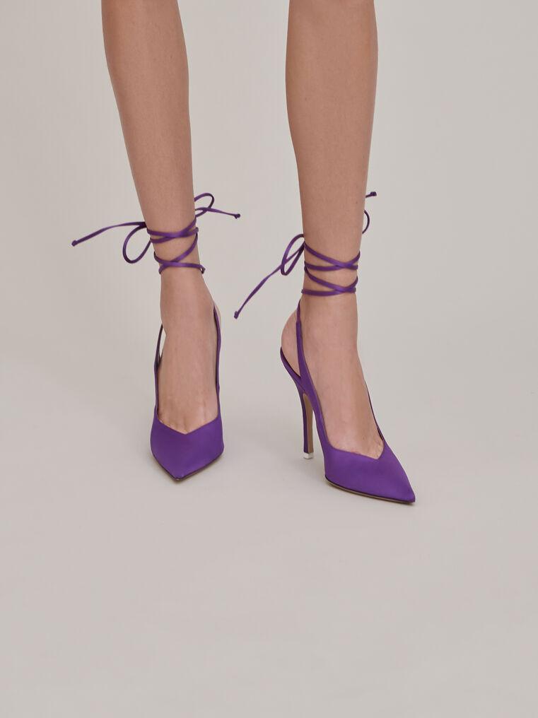 """The Attico """"Venus"""" violet slingback 1"""