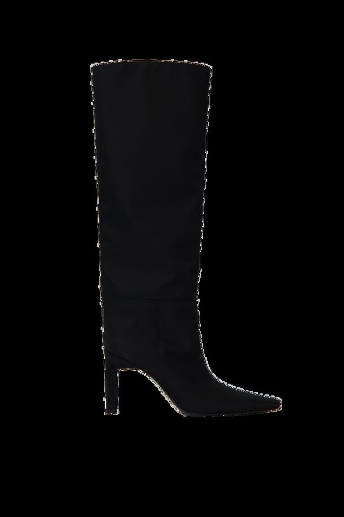 """The Attico """"Vitto 85"""" black nylon  tube boot 4"""