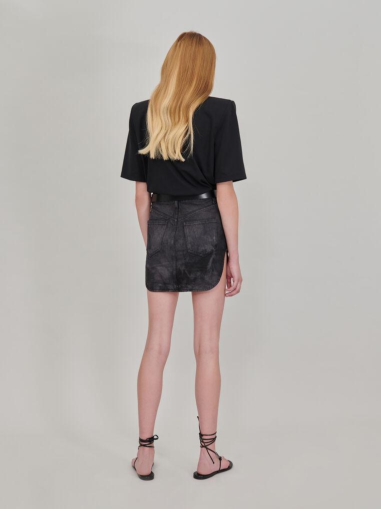 The Attico Black tie dye mini skirt with rounded hem 3