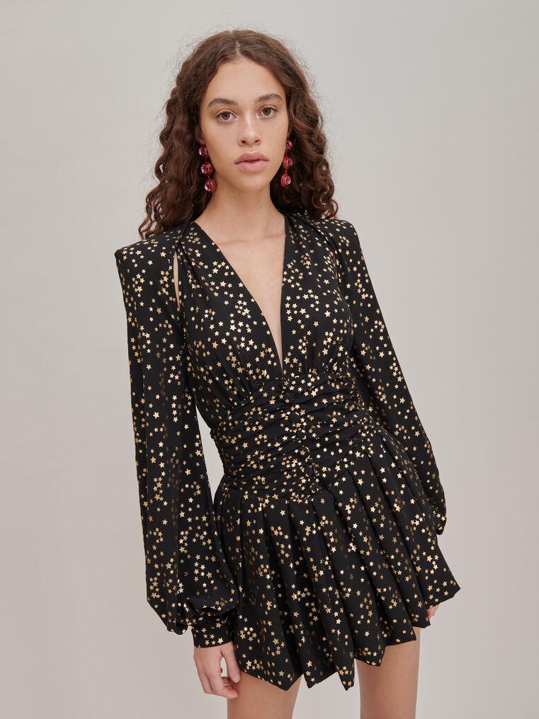 The Attico Black and gold mini dress 3