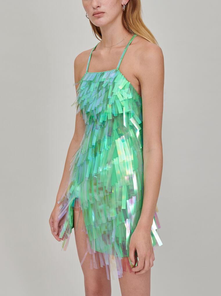 The Attico Embroidered slip dress 2