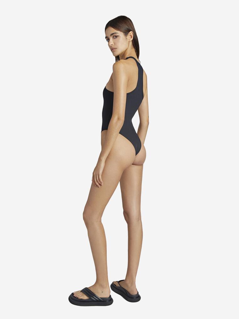 THE ATTICO Matte black swimsuit 3