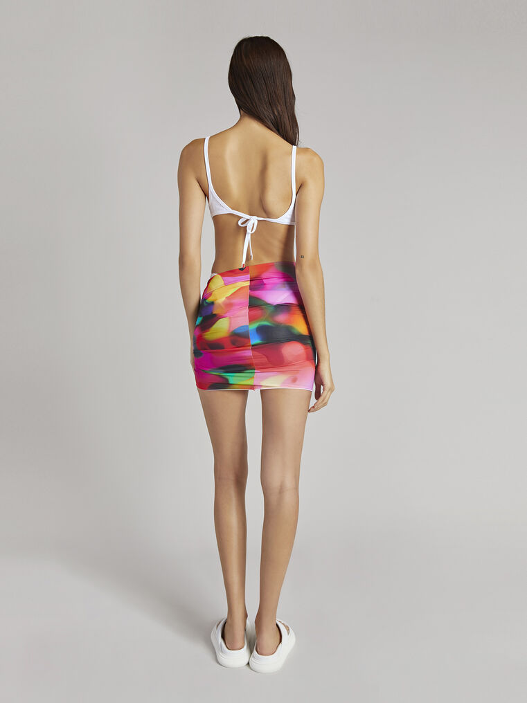 THE ATTICO Multicolour printed mini skirt 3